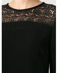 Pinko Black Lace Panel Shift Dress