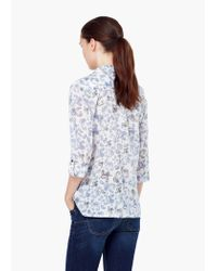 Mango | White Chest-pocket Cotton Shirt | Lyst