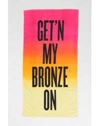 Urban Outfitters Orange Bronze Beach Towel
