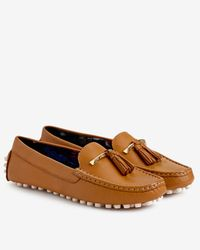 Ted Baker - Brown Tasselled Leather Moccasin Shoes - Lyst