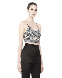 Alexander Wang Black Pleated Triangle Top