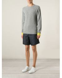 Chinti & Parker | Gray Yellow Cuff Sweater for Men | Lyst