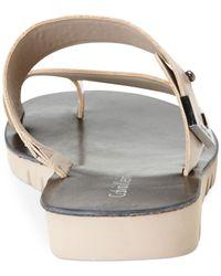 Calvin Klein Natural Women'S Pax Assymetical Sandals