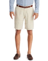 BOSS - Natural 'clyde-w' | Regular Fit, Linen Shorts for Men - Lyst