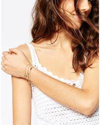ASOS - Metallic 3 Pack Fine Chain Bracelets - Lyst
