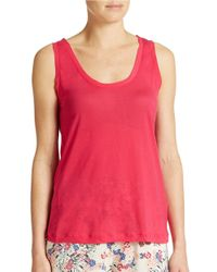 French Connection | Pink Polly Plains Tank Top | Lyst