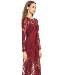 For Love & Lemons - Red Ethereal Maxi Dress - Crimson - Lyst