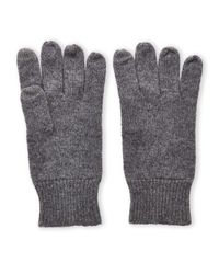 Sofia Cashmere | Gray Knit Cashmere Touchscreen Gloves for Men | Lyst