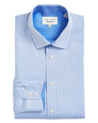 Ted Baker | Blue 'endurance' Trim Fit Dobby Dress Shirt for Men | Lyst