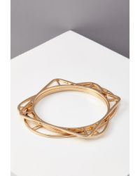 Forever 21 - Metallic Geo Cutout Bangle Set You've Been Added To The Waitlist - Lyst