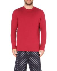 Derek Rose | Red Round-neck Sweatshirt for Men | Lyst
