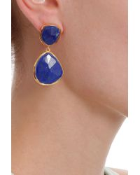 Monica Vinader - Blue Siren Lapis Earrings - Lyst