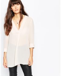 SELECTED - White Elected Lind Blouse - Lyst