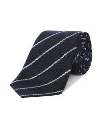 Armani | Blue Stripe Tie for Men | Lyst