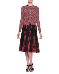 Bottega Veneta - Multicolor Tweed-print Cashmere/silk Button Cardigan - Lyst