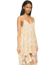 Line & Dot Natural Soft Feather Maxi Dress - Cream Feather