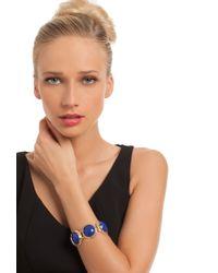 Trina Turk - Blue Lg Bezel Set Stone Flex Bracelet - Lyst