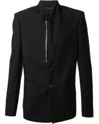 Kris Van Assche Black Zip Detail Blazer for men