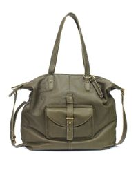 Lucky Brand Green Medine Leather Tote