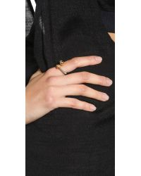 Giles & Brother | Metallic Nut & Bolt Bypass Ring - Rhodium/Gold | Lyst