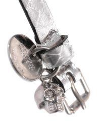 Alexander McQueen | Metallic Double-Wrap Water Snake Bracelet | Lyst