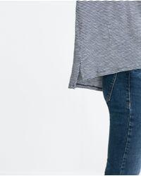 Zara | Blue Basic T-shirt | Lyst