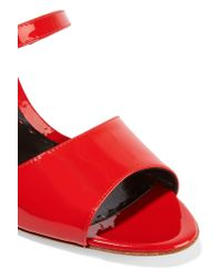 Rupert Sanderson Red Ophelia Patent-leather Sandals
