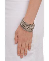 Saint Laurent - Metallic Multistrand Chain Bracelet - Lyst