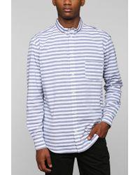 Cheap Monday - Blue Neo Stripe Buttondown Shirt for Men - Lyst