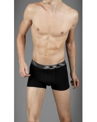 Burberry Black Check Waistband Boxer Shorts for men