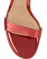 Gianvito Rossi Pink Metallic Leather Sandals