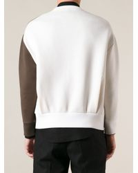 Neil Barrett - Brown Lightning Print Sweater for Men - Lyst