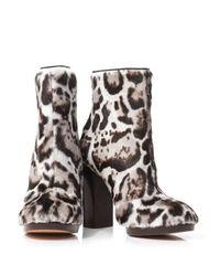 Christopher Kane Multicolor Jaguar Goat-Skin Ankle Boots
