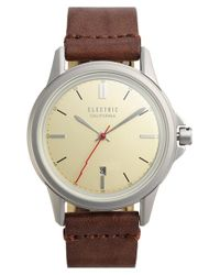 Electric - Brown 'carroway' Leather Strap Watch for Men - Lyst