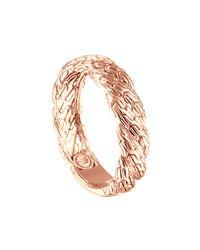 John Hardy | Metallic Classic Chain Twisted 18k Gold Ring | Lyst