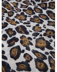Stella McCartney Multicolor Leopard Print Scarf