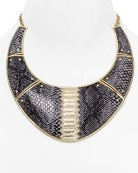 ABS By Allen Schwartz | Metallic Call Of The Wild Snake Collar Necklace, 16"