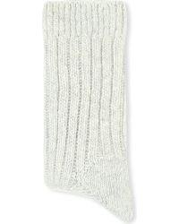 Brunello Cucinelli | Gray Cashmere Socks - For Women | Lyst