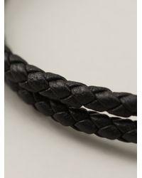 Ferragamo | Black Woven Bracelet for Men | Lyst