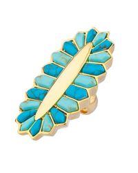 Noir Jewelry | Blue Setting Sun Ring | Lyst