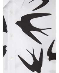 McQ - Natural Swallow Print Poplin Shirt for Men - Lyst