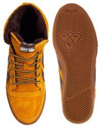 Hummel - Orange Stadil Autumn High Trainers for Men - Lyst