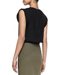 Veronica Beard Green Zipfront Short Pencil Skirt