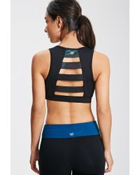 Forever 21 Black Medium Impact - Oil Slick Sports Bra You've Been Added To The Waitlist