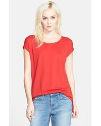 Stem | Red High Low Knit Tunic Top | Lyst
