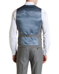 Ted Baker - Gray T For Tall Lubwai Textured Waistcoat for Men - Lyst