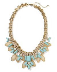 Banana Republic - Metallic Shimmer Chic Stone Statement Necklace Multi Color - Lyst