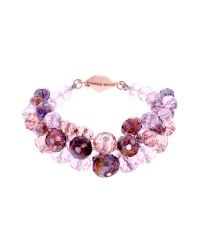 Ted Baker - Pink Chelly Bead Cluster Bracelet - Lyst