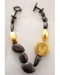 Viktoria Hayman - Metallic Black Sands Necklace - Lyst