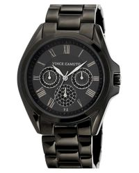 Vince Camuto | Black Crystal Multifunction Bracelet Watch | Lyst